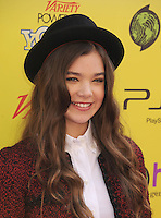HOLLYWOOD, CA - OCTOBER 22: Hailee Steinfeld arrives at Variety's 5th annual Power Of Youth event presented by The Hub at Paramount Studios on October 22, 2011 in Hollywood, California. /NortePhoto.com<br />