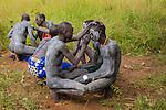 Surma men, Ethiopia
