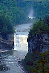 Letchworth State Park Falls, New York. Genesee River.