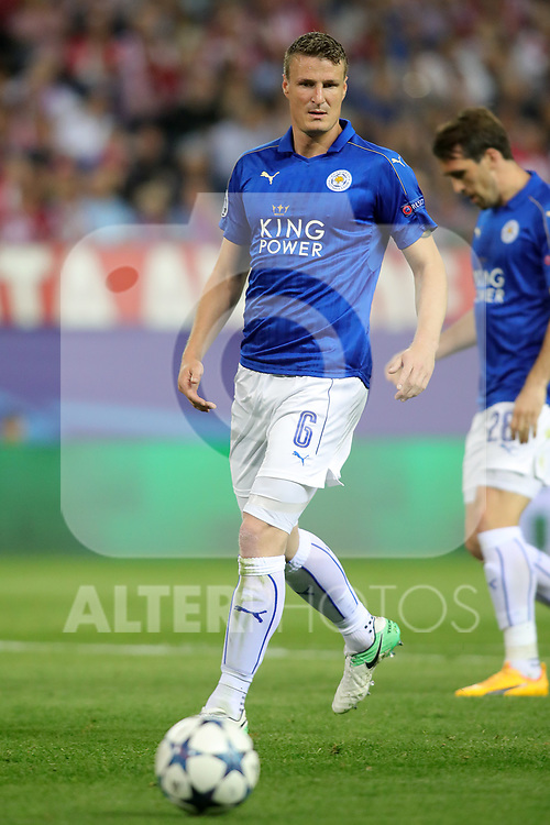 Leicester City FC's Robert Huth during Champions League 2016/2017 Quarter-finals 1st leg match. April 12,2017. (ALTERPHOTOS/Acero)