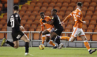 Blackpool's Marc Bola vies for possession with Barnsley's Dimitri Cavare<br /> <br /> Photographer Rich Linley/CameraSport<br /> <br /> The EFL Sky Bet League One - Blackpool v Barnsley - Saturday 22nd December 2018 - Bloomfield Road - Blackpool<br /> <br /> World Copyright &copy; 2018 CameraSport. All rights reserved. 43 Linden Ave. Countesthorpe. Leicester. England. LE8 5PG - Tel: +44 (0) 116 277 4147 - admin@camerasport.com - www.camerasport.com