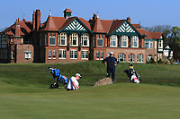 Alex Hietala (Finland) on the 1st during Round 3 of the Lytham Trophy held at Royal Lytham &amp; St. Annes Golf Club on Sunday 6th May 2018.<br /> Picture:  Thos Caffrey / www.golffile.ie<br /> <br /> All photo usage must carry mandatory copyright credit (&copy; Golffile | Thos Caffrey)