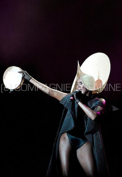 Grace Jones in concert at the Suikerrock festival in Tienen (Belgium, 31/07/2010)