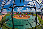 24 February 2019: Members of the St. Louis Cardinals coaching staff work infield practice prior to a Spring Training game against the Washington Nationals at Roger Dean Stadium in Jupiter, Florida. The Cardinals fell to the Nationals 12-2 in Grapefruit League play. Mandatory Credit: Ed Wolfstein Photo *** RAW (NEF) Image File Available ***
