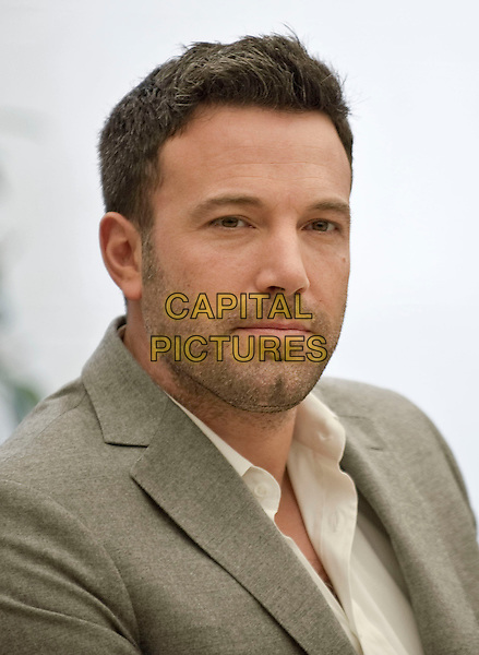 Ben Affleck.Photocall for 'Argo', Rome, Italy, .October 19th 2012..portrait headshot beard facial hair stubble beige grey gray suit white shirt .CAP/IPP/FC.©Fanny Coletta/IPP/Capital Pictures.