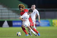 01th November 2019; Bezerrao Stadium, Brasilia, Distrito Federal, Brazil; FIFA U-17 World Cup Brazil 2019, Canada versus New Zealand; Jayden Nelson of Canada goes past Campbell Strong of New Zealand - Editorial Use