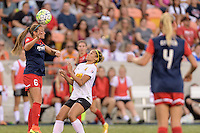 Houston, TX - Sunday Oct. 09, 2016: Shelina Zardorsky, Lynn Williams during the National Women's Soccer League (NWSL) Championship match between the Washington Spirit and the Western New York Flash at BBVA Compass Stadium. The Western New York Flash win 3-2 on penalty kicks after playing to a 2-2 tie.