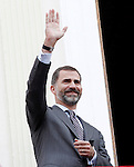 Prince Felipe of Spain visits Caspe village on November 7, 2012 in Alcaniz, Teruel, Spain. (ALTERPHOTOS/Acero)