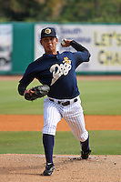 Charleston Riverdogs pitcher Steve Evarts #30 pitching during a game against the Delmarva Shorebirds at Joseph P. Riley Ballpark in Charleston, South Carolina on July 10, 2011. Charleston defeated Delmarva 5-4 in the second game of a doubleheader.   Robert Gurganus/Four Seam Images