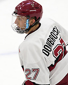 Viktor Dombrovskiy (Harvard - 27) - The Harvard University Crimson tied the visiting Yale University Bulldogs 1-1 on Saturday, January 21, 2017, at the Bright-Landry Hockey Center in Boston, Massachusetts.