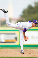 Starting pitcher Kevin Gausman #12 of the LSU Tigers in action against the Wake Forest Demon Deacons at Alex Box Stadium on February 19, 2011 in Baton Rouge, Louisiana.  The Tigers defeated the Demon Deacons 4-3.  Photo by Brian Westerholt / Four Seam Images