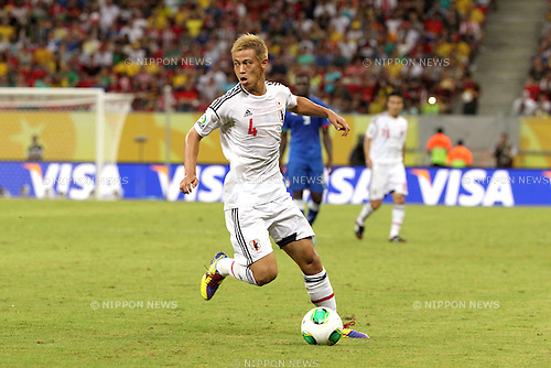 Keisuke Honda (JPN),<br /> JUNE 19, 2013 - Football / Soccer :<br /> FIFA Confederations Cup Brazil 2013 Group A match between Italy 4-3 Japan at Arena Pernambuco in Recife, Brazil. (Photo by Toshihiro Kitagawa/AFLO)