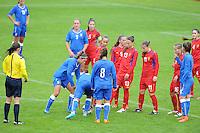 VOETBAL: HEERENVEEN: 15-09-2015, Sportpark Skoatterwâld, Vrouwenvoetbal EK Kwalificatie onder 19 jaar | Italië-Moldavië, uitslag 9-0, ©foto Martin de Jong