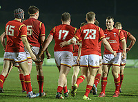 Wales U20's players celebrate their fifth try<br /> <br /> Photographer Alex Dodd/CameraSport<br /> <br /> RBS Six Nations U20 Championship Round 4 - Wales U20s v Ireland U20s - Saturday 11th March 2017 - Parc Eirias, Colwyn Bay, North Wales<br /> <br /> World Copyright &copy; 2017 CameraSport. All rights reserved. 43 Linden Ave. Countesthorpe. Leicester. England. LE8 5PG - Tel: +44 (0) 116 277 4147 - admin@camerasport.com - www.camerasport.com