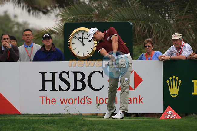 Henrik Stenson teeing off on the 9th on day two of the Abu Dhabi HSBC Golf Championship 2011, at the Abu Dhabi golf club, UAE. 21/1/11..Picture Fran Caffrey/www.golffile.ie.