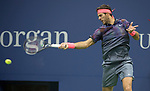 September 6,2017:  Juan DelPotro defeated Roger Federer (SUI) 7-5, 3-6, 7-6, 6-4, at the US Open being played at Billy Jean King Ntional Tennis Center in Flushing, Queens, New York.  ©Leslie Billman