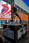 25 January 2009: A bronze statue of Montreal Canadiens legend Jean Beliveau stands outside the Bell Centre prior to the 2009 NHL All-Star Game in Montreal, Quebec, Canada. The Eastern Conference defeated the Western Conference 12-11 in a shootout. ***** Editorial Sales Only ***** Mandatory Photo Credit: Ed Wolfstein Photographer