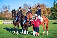 Team Australia-Queensland Dressage: (L-R) Kim Tenkate, Eliza Cullen, Alaister Schramm, and Team Manager Kim Tenkate. 2018 Equestrian Entries NZ Under 25 Dressage Championships. Sunday 22 April. Copyright Photo: Libby Law Photography