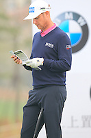 Mikko Ilonen (FIN) on the 6th tee during Saturay's Round 3 of the 2014 BMW Masters held at Lake Malaren, Shanghai, China. 1st November 2014.<br /> Picture: Eoin Clarke www.golffile.ie