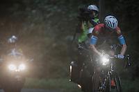 Bob Jungels (LUX/Etixx-QuickStep) charging up the Bosberg<br /> <br /> 12th Eneco Tour 2016 (UCI World Tour)<br /> Stage 7: Bornem › Geraardsbergen (198km)