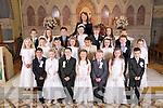 Pupils of Scoil Eoin, Balloonagh Tralee who made their first Communion in Saint Brendans Church, Tralee on Saturday. Front : Cathy Dwyer, Cadin O''Mahony, Chloe Lehane, Conor O'Brien, Caoimhe Leahy, Evan Foley & Sinead Frampton..Centre: Padraig O'Sullivan, Wiktoria Porebska, Ciara O'Mahony, Tori Purall, Alex Sheridan, Ciara Ryle-Madden, Shauna Lynch & P.J O'Sullivan..Back : Elaine Daughton, Lauren Dowling, Aislin O'Leary, Erin O'Sullivan, Joey Nagle, Dana Casey, Isabella Gacek & Laura Reidy..