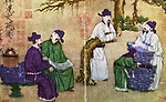 C geo. hist., China, People, Scholars or The Garden of Literature, Paintings, by Han Hwang (Han Huang), 8th century, geography / travel, people, Scholars or The Garden of Literature, painting, by Han Hwang.