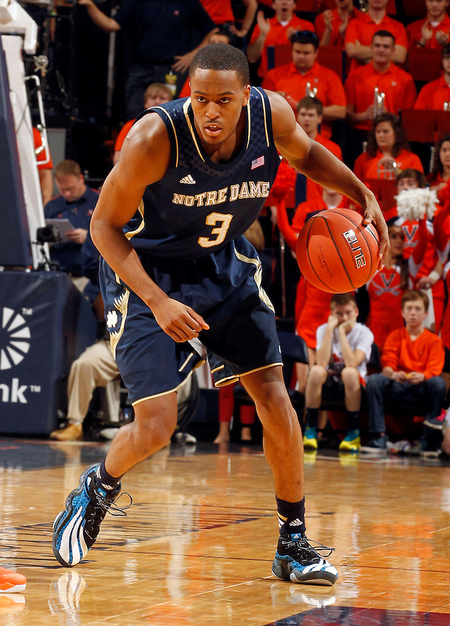 Notre Dame forward V.J. Beachem (3) during the game Saturday, February 22, 2014,  in Charlottesville, VA. Virginia won 70-49.