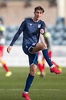 8th February 2020; Dens Park, Dundee, Scotland; Scottish Championship Football, Dundee versus Partick Thistle; Tom Field of of Dundee during the warm up before the match