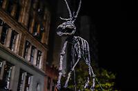 NOVA YORK, EUA, 31.10.2018 - HALLOWEEN-EUA - Foliões durante desfile de Halloween na cidade de Nova York nos Estados Unidos na noite desta quarta-feira, 31. (Foto: Vanessa Carvalho/Brazil Photo Press)