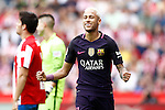 FC Barcelona's Neymar Santos Jr celebrates goal during La Liga match. September 24,2016. (ALTERPHOTOS/Acero)