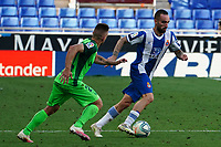 5th July 2020; RCDE Stadium, Barcelona, Catalonia, Spain; La Liga Football, Real Club Deportiu Espanyol de Barcelona versus Leganes;  Darder breaks away from Ruben Perez of Leganes