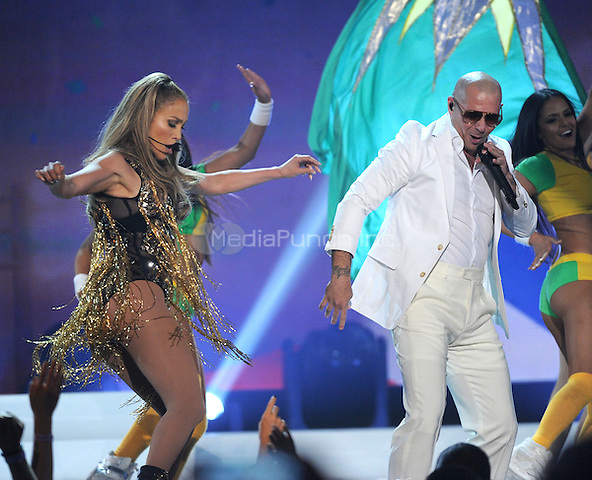 LAS VEGAS, NV - MAY 18: 5 Jennifer Lopez and Pitbull perform on the 2014 Billboard Music Awards at the MGM Grand Garden Arena on Sunday, May 18, 2014 in Las Vegas, Nevada.PGMicelotta/MediaPunch