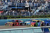 #19: Martin Truex Jr., Joe Gibbs Racing, Toyota Camry Bass Pro Shops and #18: Kyle Busch, Joe Gibbs Racing, Toyota Camry M&M's