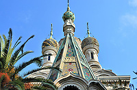 russian orthodox church onion domes in san remo italy. Black Bedroom Furniture Sets. Home Design Ideas