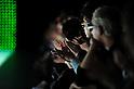 October 19, 2012, Tokyo, Japan - Visitors clap their hands after the show ''G.V.G.V'' during Mercedes-Benz Fashion Week Tokyo 2013 Spring/Summer. The Mercedes-Benz Fashion Week Tokyo runs from October 13-20. (Photo by Yumeto Yamazaki/AFLO)