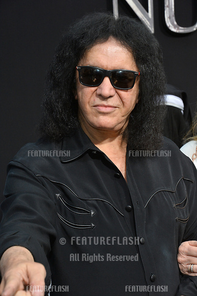 "LOS ANGELES, CA. September 04, 2018: Gene Simmons at the world premiere of ""The Nun"" at the TCL Chinese Theatre, Hollywood."