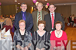 SOCIAL: Enjoying a great time at the Ballinorig Dinner Social at the Manor West hotel on Friday seated l-r: Phyllis Keane, Phil McDonough and Rita O'Sullivan. Back l-r: Peter Keane, Michael McDonough and John O'Sullivan.