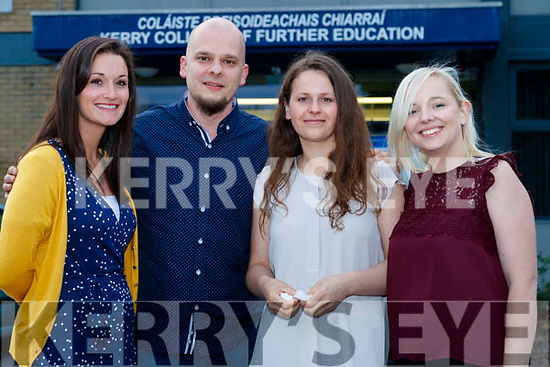 Sarah Ryell, Oskars Krastins, Kristine Nagornaja and Katie Murphy, pictured at the Kerry College of Further Education awards night on Thursday May 31st