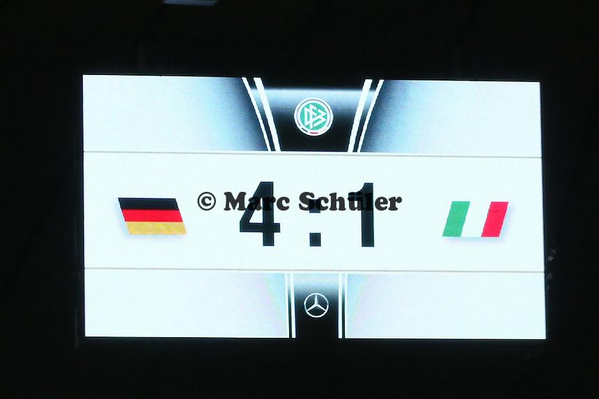 Endstand 4:1 - Deutschland vs. Italien, Allianz Arena München