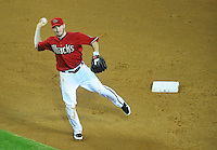 Jun. 1, 2011; Phoenix, AZ, USA; Arizona Diamondbacks shortstop Stephen Drew throws to first for an out in the sixth inning against the Florida Marlins at Chase Field. Mandatory Credit: Mark J. Rebilas-