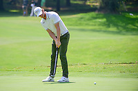 Thomas Pieters (BEL) watches his putt on 1 during round 1 of the World Golf Championships, Mexico, Club De Golf Chapultepec, Mexico City, Mexico. 3/2/2017.<br /> Picture: Golffile | Ken Murray<br /> <br /> <br /> All photo usage must carry mandatory copyright credit (&copy; Golffile | Ken Murray)