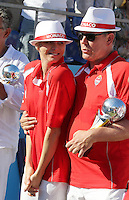 Prince Albert II of Monaco & Princess Charlene attend the 2013 Masters petanque tournament  - Monaco
