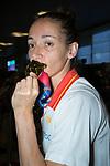 Laia Palau kisses her gold medal of Women's Eurobasket 2019 . July 08, 2019. (ALTERPHOTOS/Francis González)