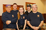 Bethlehem, CT-021619MK07 Members of the Bethlehem Ambulance Corps (from left) George Romano, Travis Smith, Grace Cuccia, Nicholas Fanelli and Michael MeDina gathered at the Loins Club's Snow Dance fundraiser in Bethlehem.  The third annual event is the club's biggest fund raiser of the year with proceeds going toward local high school scholarships, funds for the local EMS and to the international campaign serving Individuals sight and hearing impairments. Michael Kabelka / Republican-American.