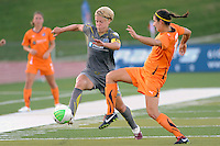 Lori Lindsey (6) of the Philadelphia Independence and Yael Averbuch (13) of Sky Blue FC. The Philadelphia Independence defeated Sky Blue FC 2-1 during a Women's Professional Soccer (WPS) match at John A. Farrell Stadium in West Chester, PA, on June 6, 2010.