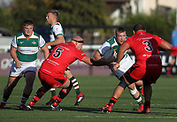Match action during the Championship Cup match between Ealing Trailfinders and Jersey at Castle Bar , West Ealing , England  on 11 November 2018. Photo by Harry Hubbard/PRiME Media Images