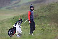 Keaton Morrison (Greenacres) on the 12th fairway during Round 2 of the Ulster Boys Championship at Portrush Golf Club, Portrush, Co. Antrim on the Valley course on Wednesday 31st Oct 2018.<br /> Picture:  Thos Caffrey / www.golffile.ie<br /> <br /> All photo usage must carry mandatory copyright credit (&copy; Golffile | Thos Caffrey)