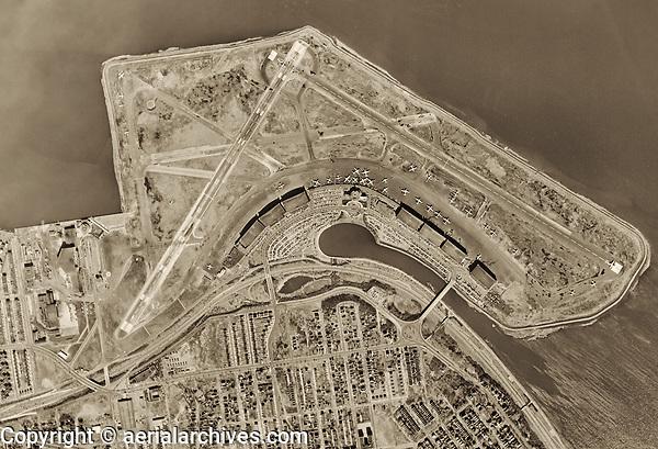 historical aerial photo map  LaGuardia International Airport Queens New York 1954