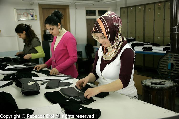 Textiles workers in Pendik, Istanbul, Turkey
