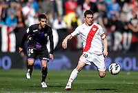 Real Valladolid's LLuis Sastre and Rayo Vallecano's Piti during La Liga  match. February 24,2013.(ALTERPHOTOS/Alconada)